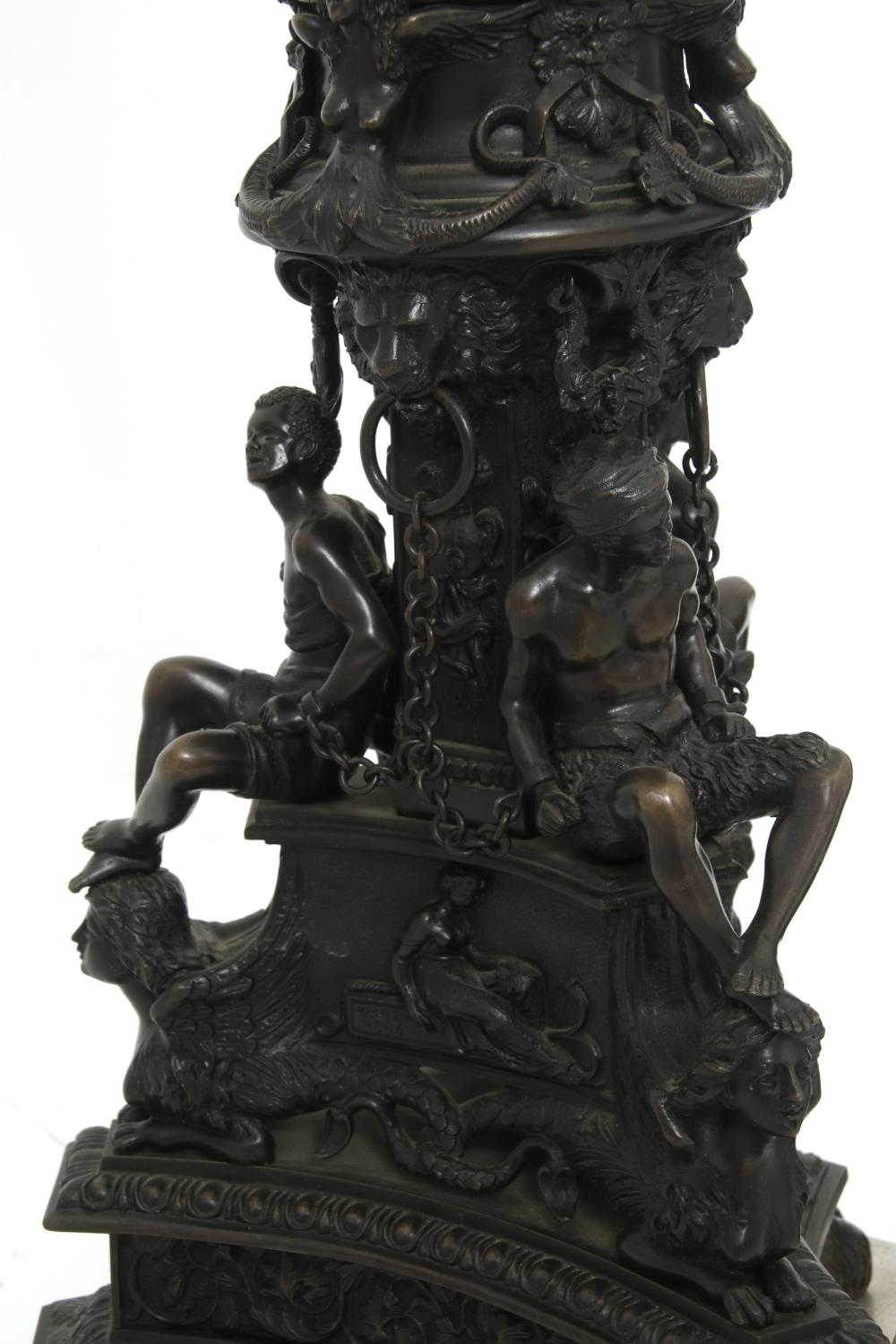 Pair of E.F. Caldwell Bronze Candle Stands