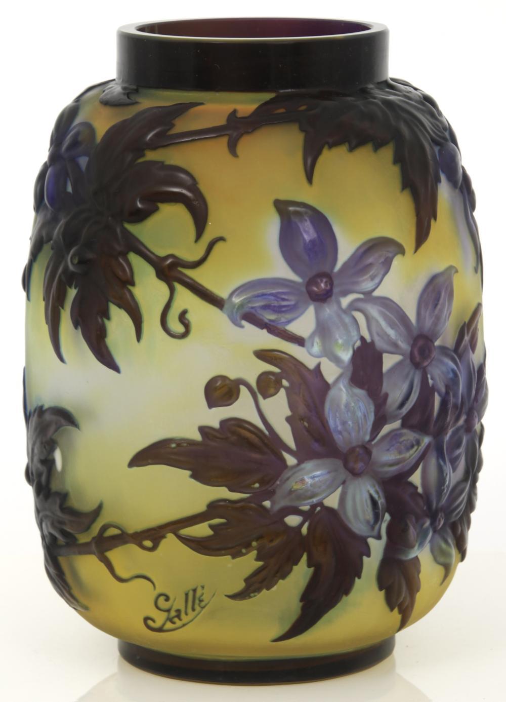 """Émile Gallé """"Clematis"""" Vase"""
