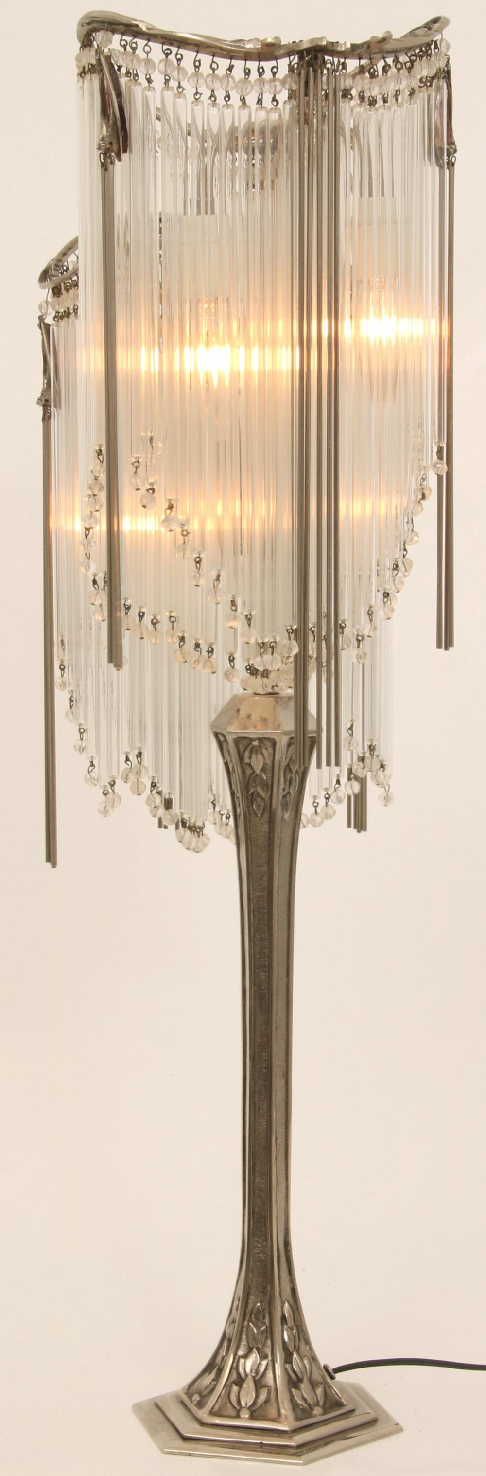 After Hector Guimard Art Nouveau Table Lamp