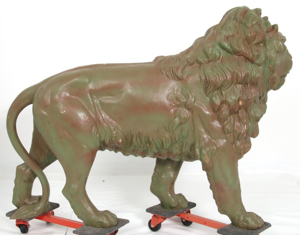 Robert Wood & Co. Cast Iron Lion Figure