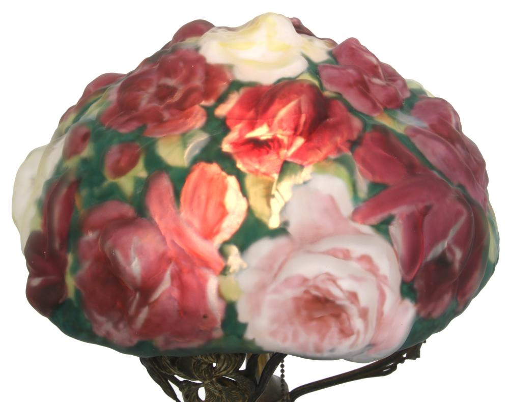 """Pairpoint Puffy """"Rose"""" Table Lamp"""