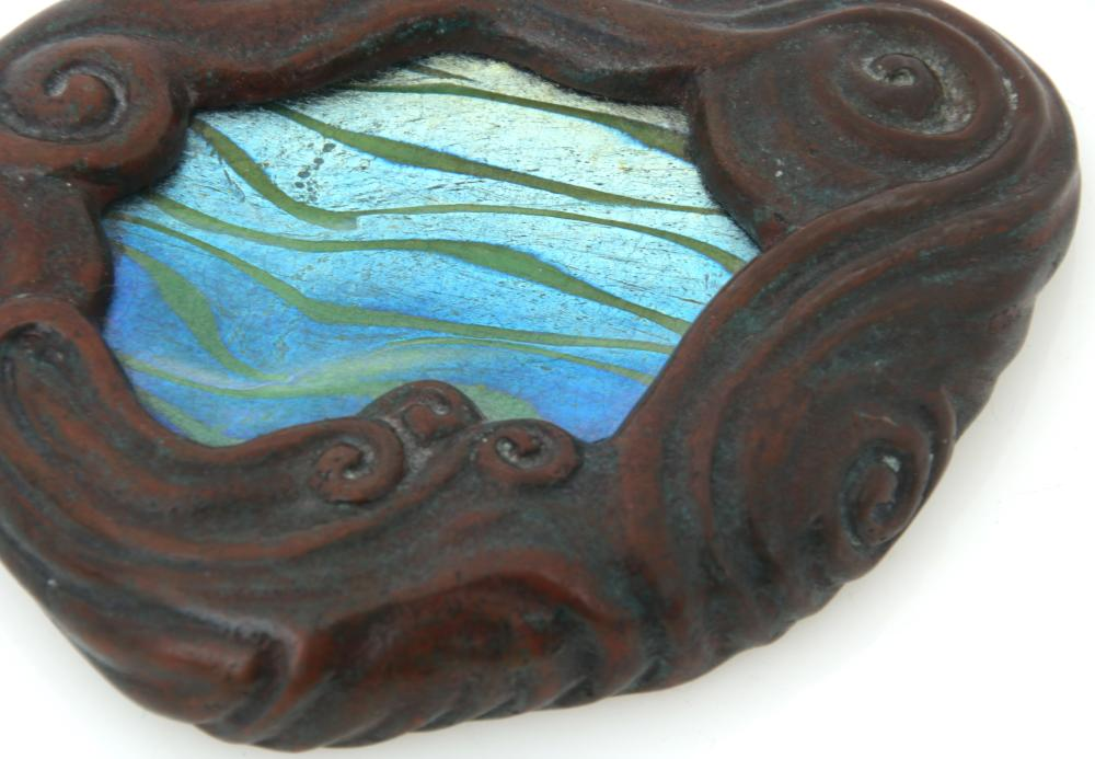"""Tiffany Studios """"Wave"""" Paperweight"""