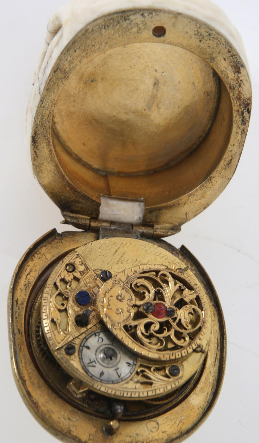 Frères Esquivillon & De Choudens Skull Form Clock