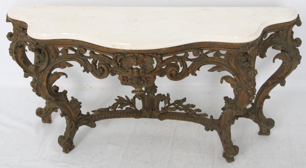 Louis XV Giltwood Console Table