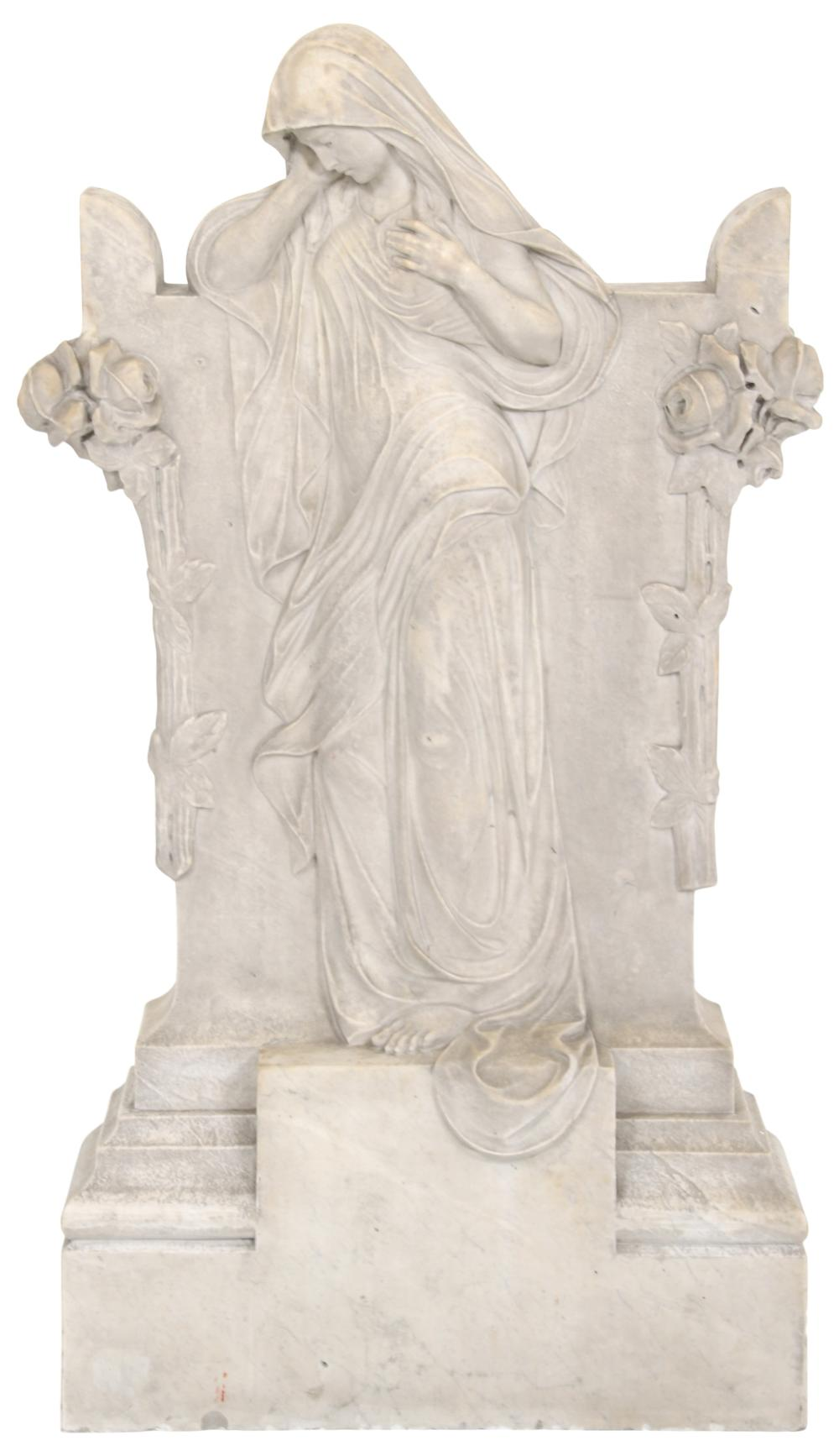 Italian Marble Sculpture of a Woman