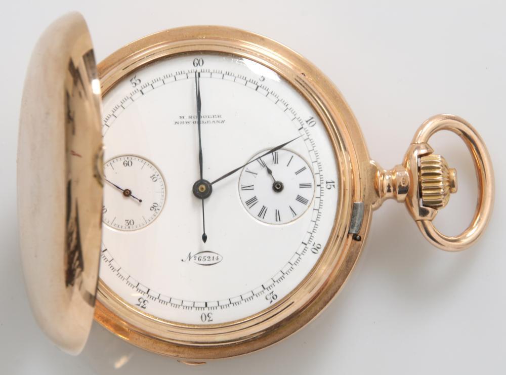 Patek Philippe 18K Gold Chronograph Pocket Watch