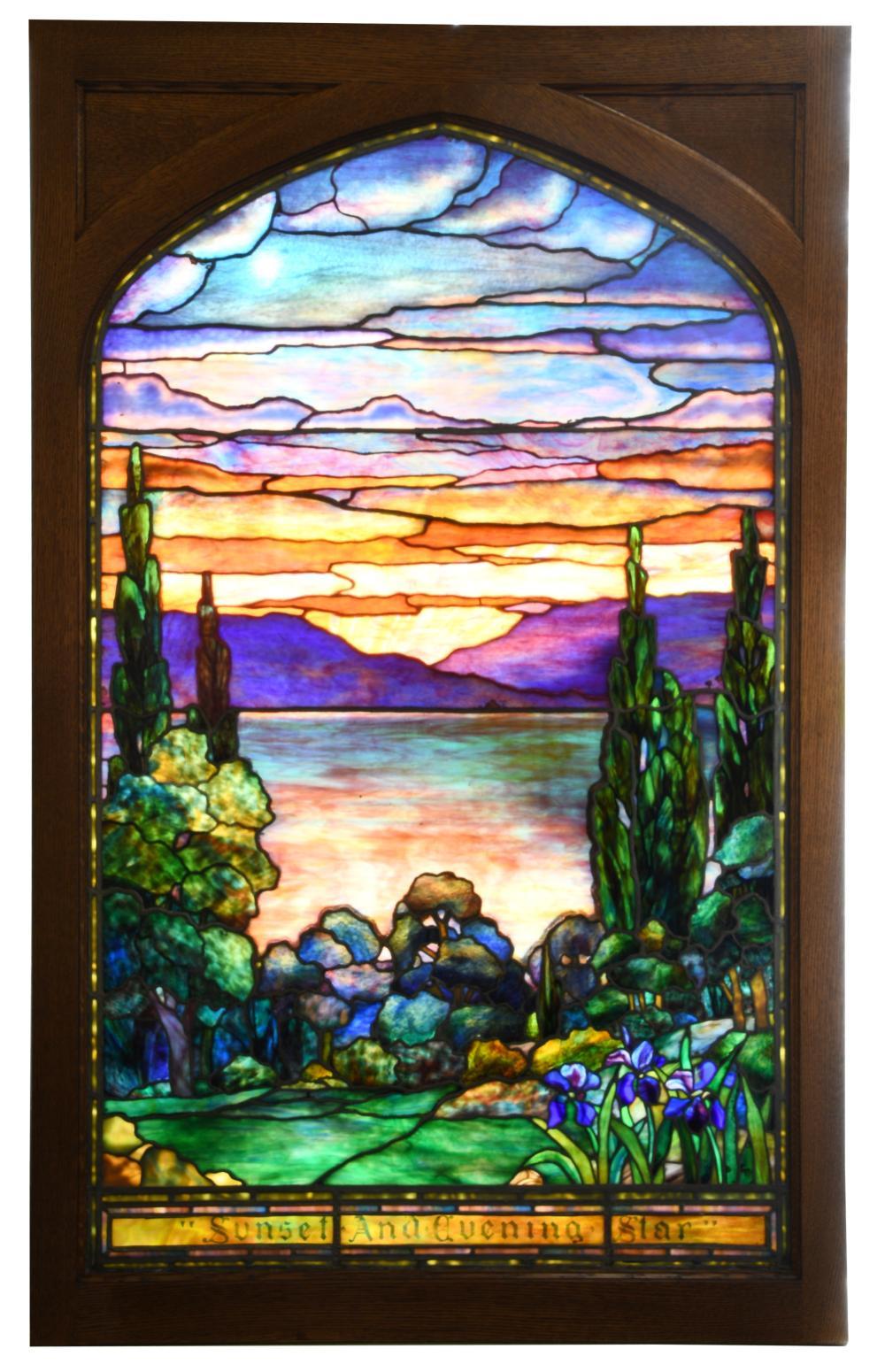 "Tiffany Studios ""Sunset and Evening Star"" Window"