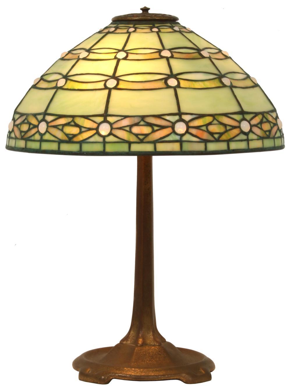 "Tiffany Studios ""Colonial"" Table Lamp"