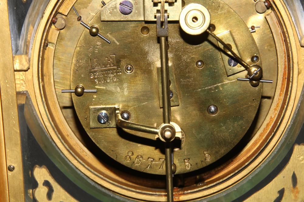 Louis XVI Style Bronze & Marble Clock Garniture