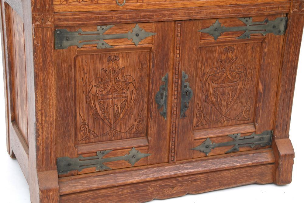 Kimbel & Cabus Oak Drop-Front Desk