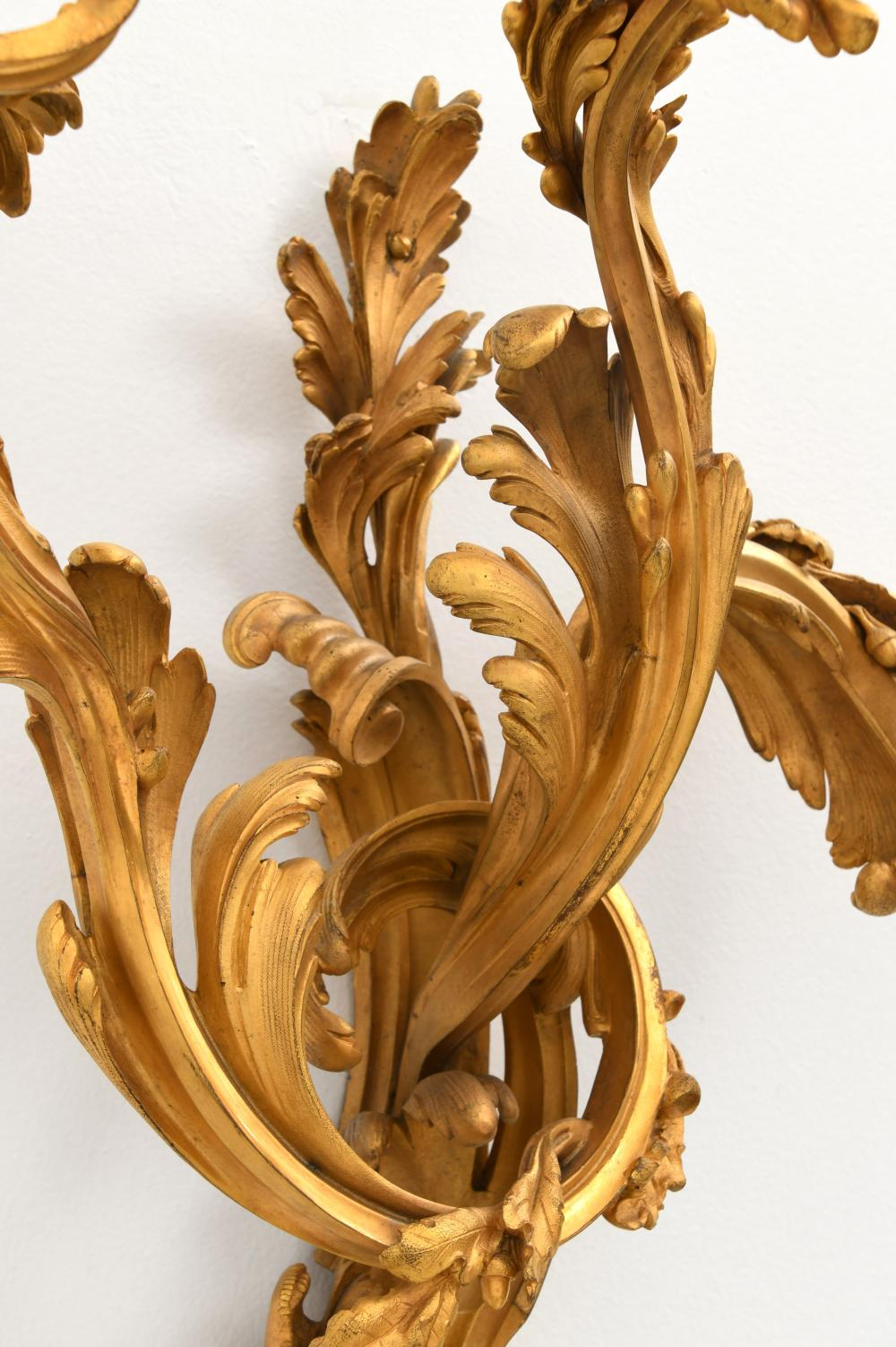 Set of Four E.F. Caldwell Gilt Bronze Sconces