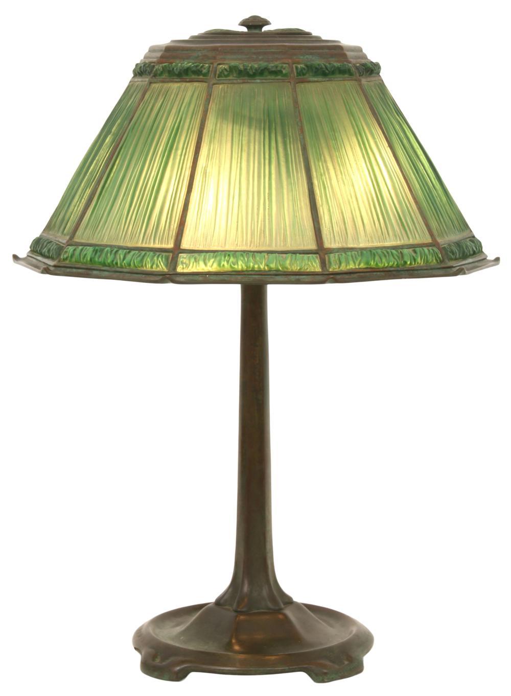 "Tiffany Studios ""Linenfold"" Table Lamp"