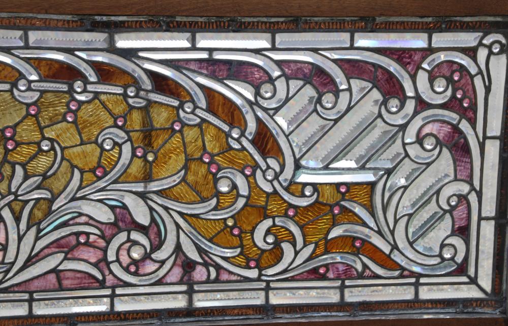 Chicago Leaded Glass Transom Window
