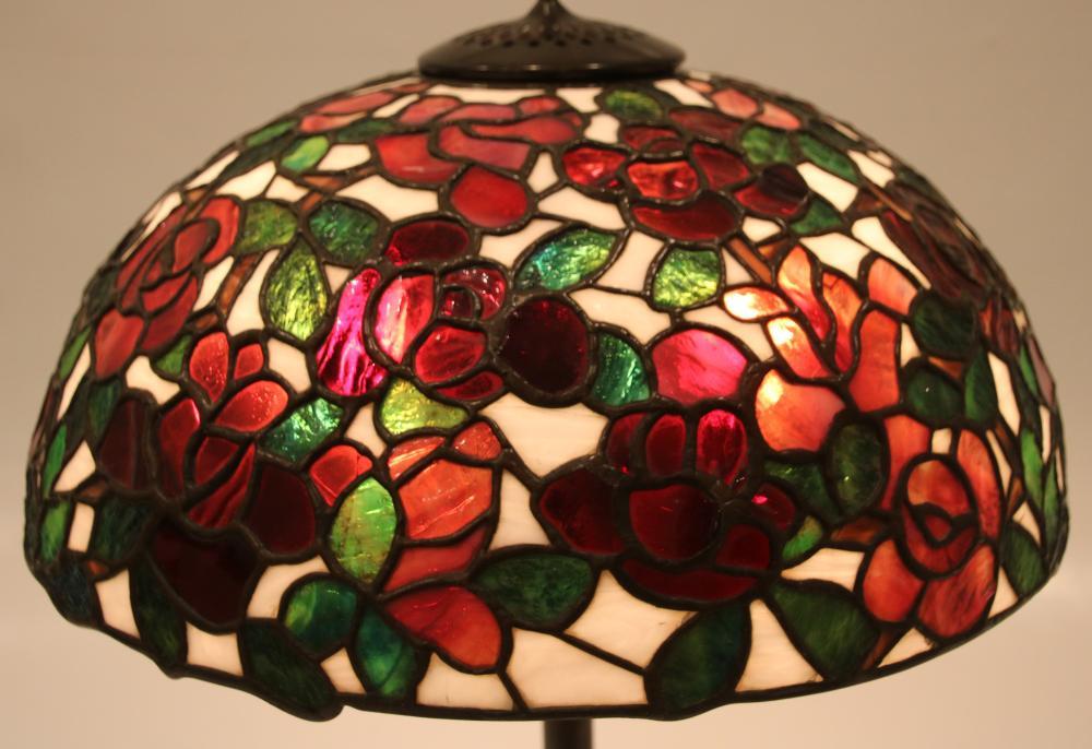 "Bigelow, Kennard & Co. ""Rose Bush"" Table Lamp"