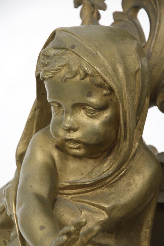 Pair of Louis XV Style Gilt Bronze Chenets