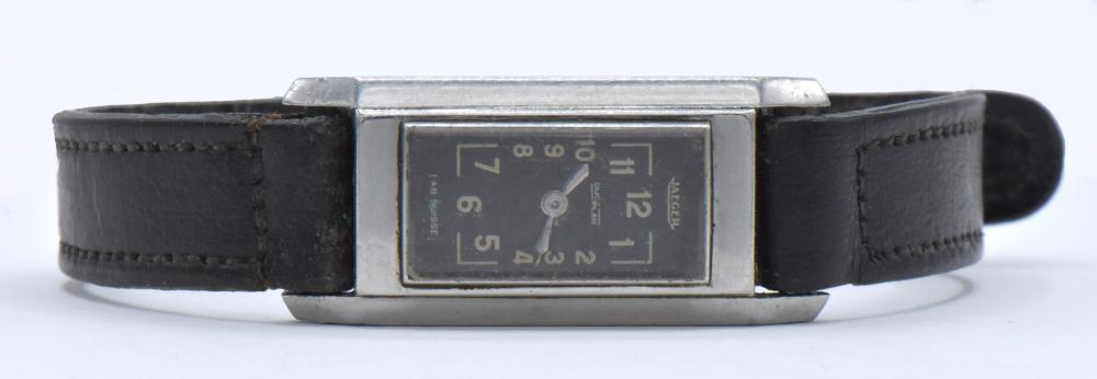 Jaeger Duoplan Stainless Steel Wristwatch
