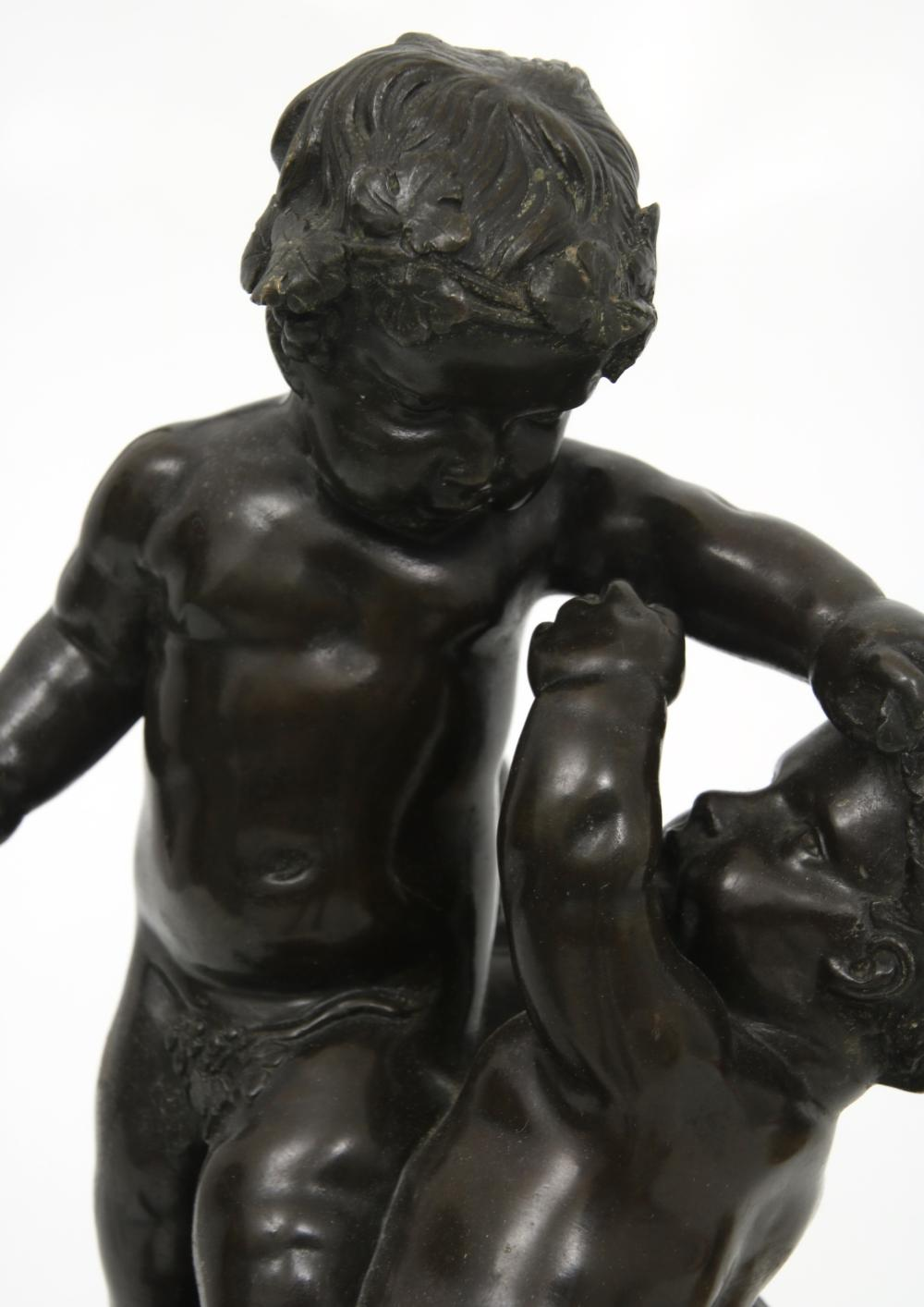 Pair of French Bronze Putti Sculptures