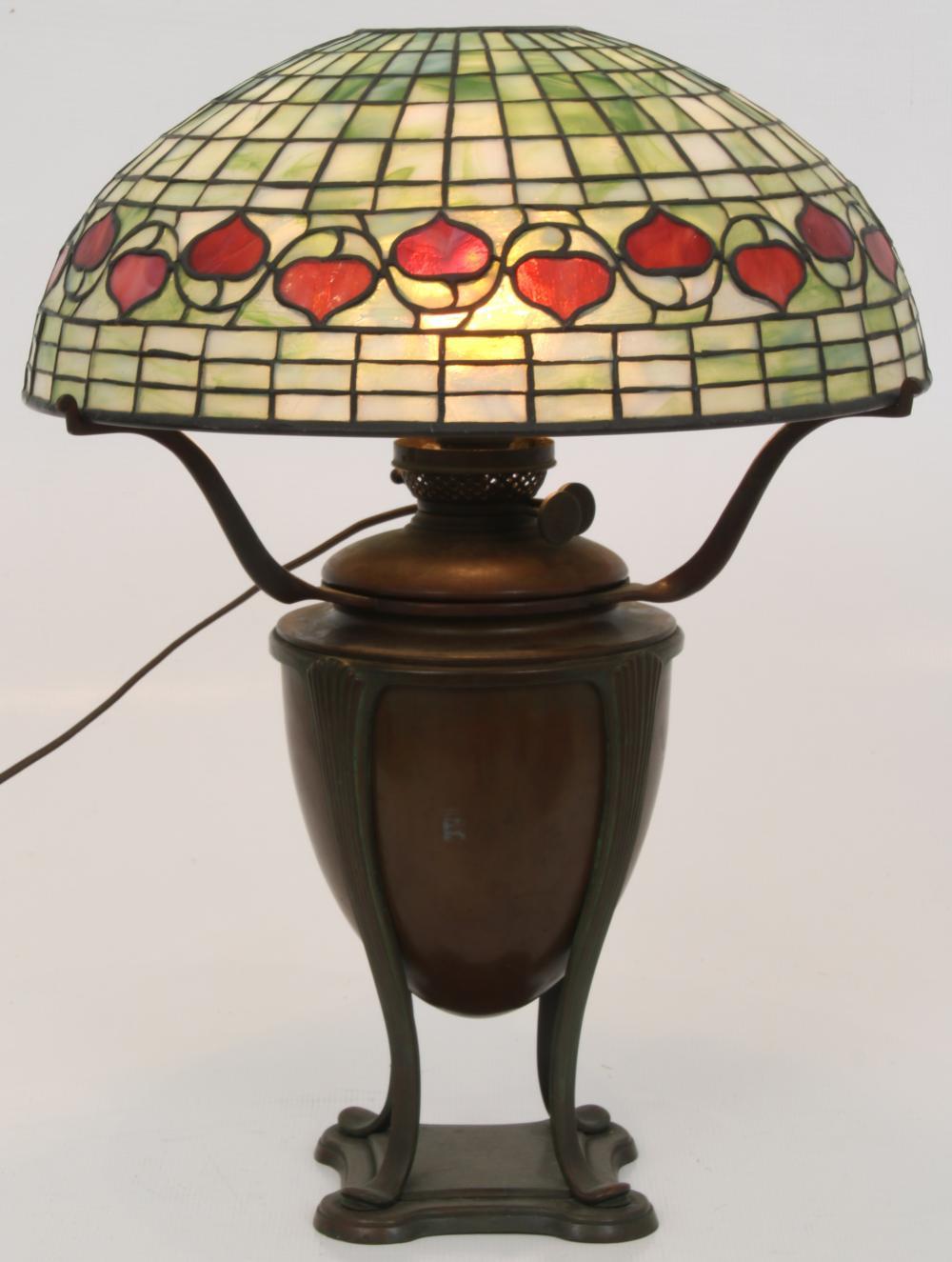 "Tiffany Studios ""Vine Border"" Table Lamp"