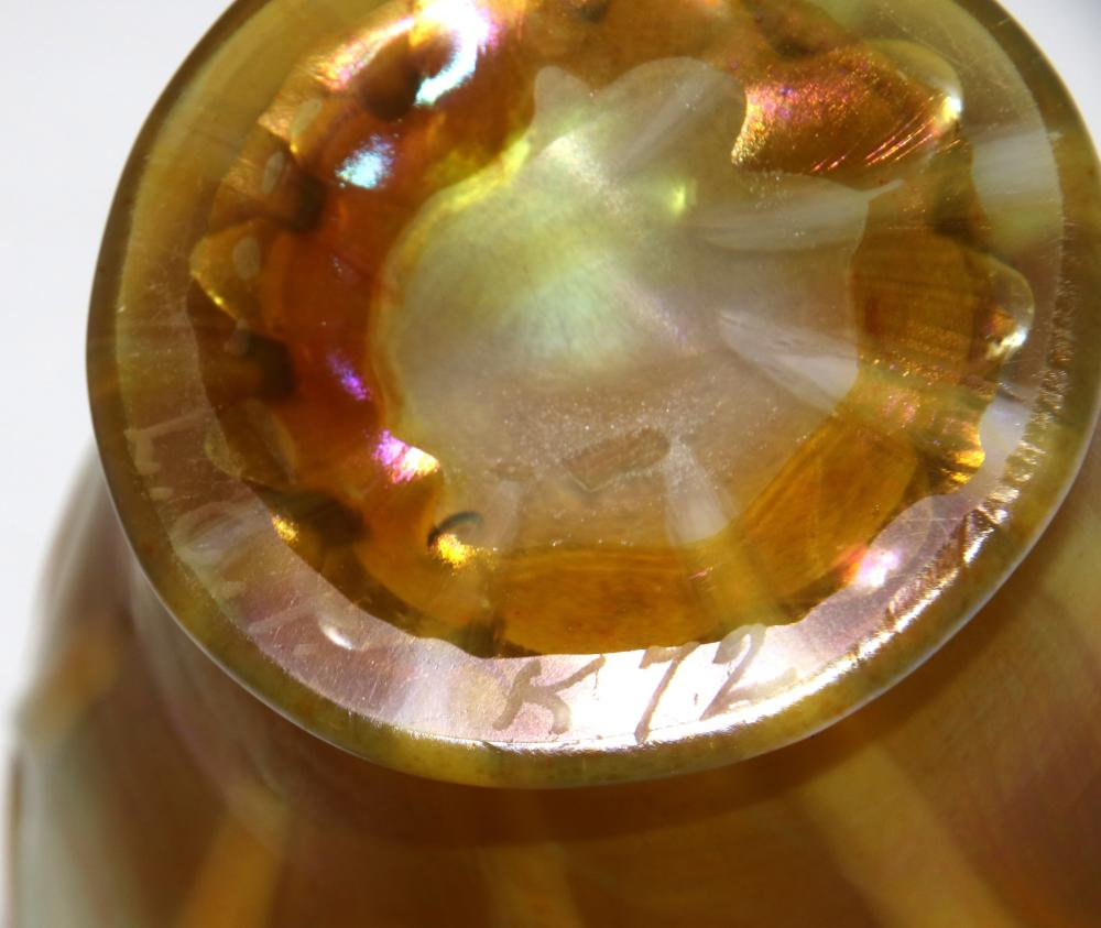 Tiffany Studios Favrile Glass Decorated Vase