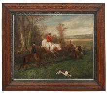 W.H. Wheelwright O/B Hunt Scene