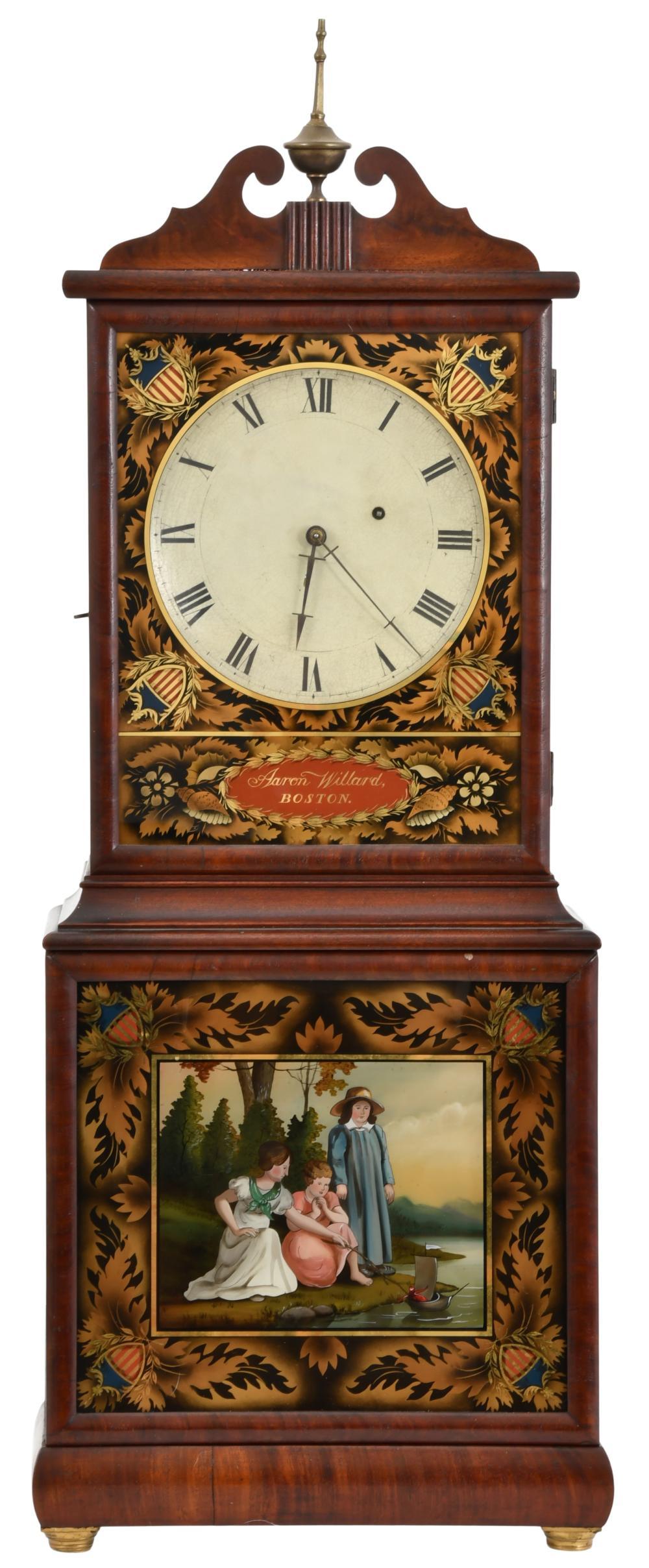 Aaron Willard (1757-1844), Boston, Massachusetts, Dish Dial Shelf Clock