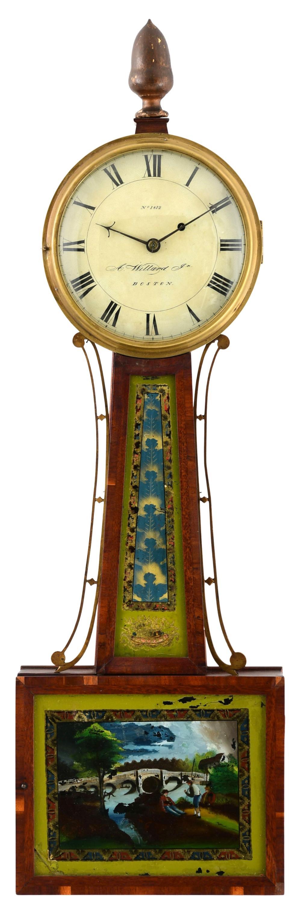 Aaron Willard Jr. (1783-1864), Boston, Massachusetts, Banjo Clock