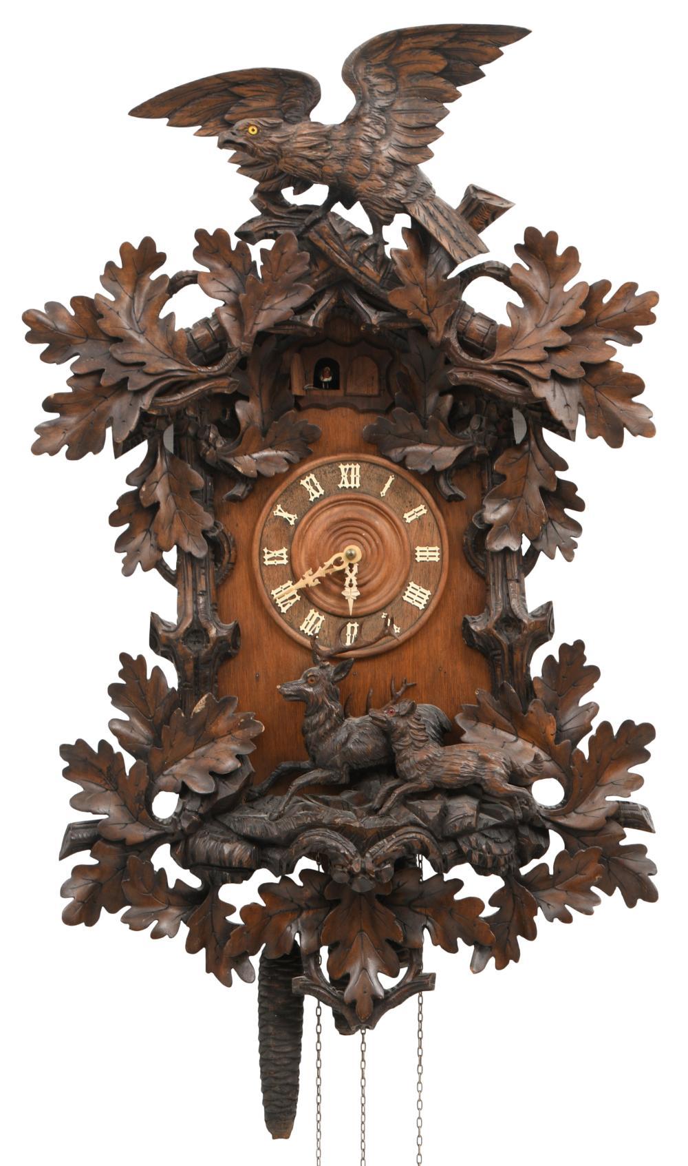 Black Forest Carved Cuckoo Clock