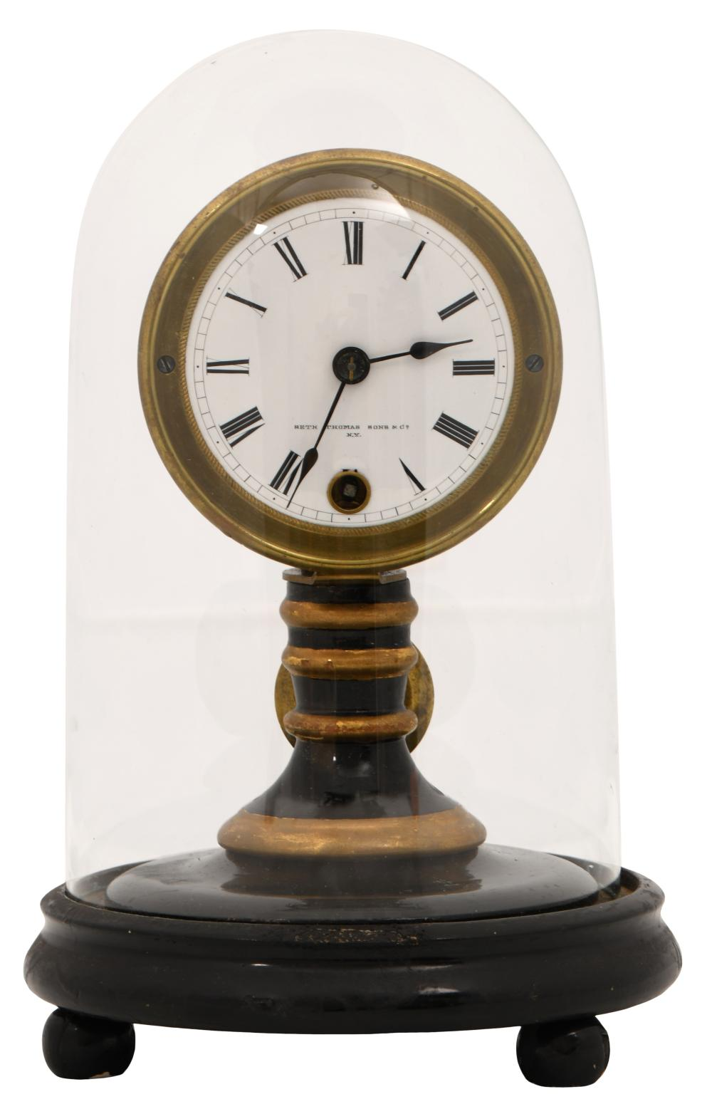 Seth Thomas Candlestick Clock with Dome