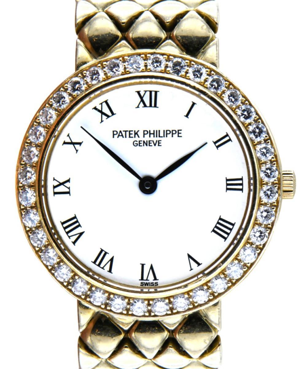 Patek Philippe 18K Gold & Diamond Calatrava Watch