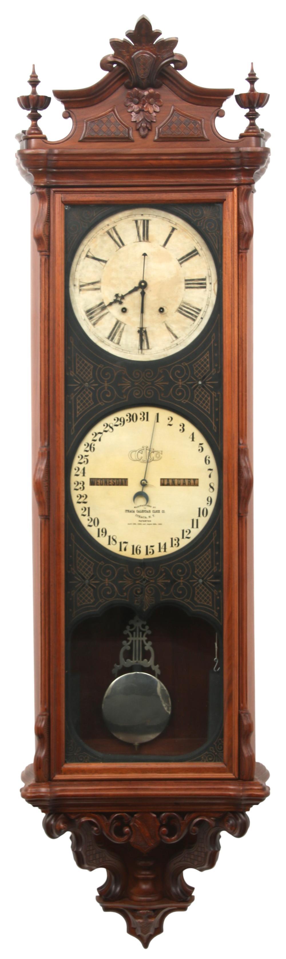 Ithaca Regulator No. 1 Calendar Wall Clock