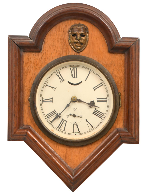 "19th Century American ""Blinking Eye"" Wall Clock"