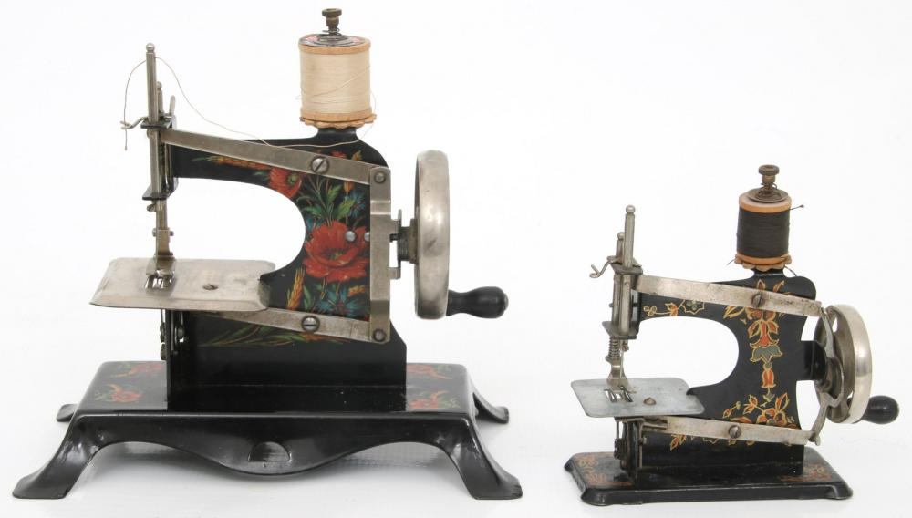 Group of Nine Miniature Sewing Machines