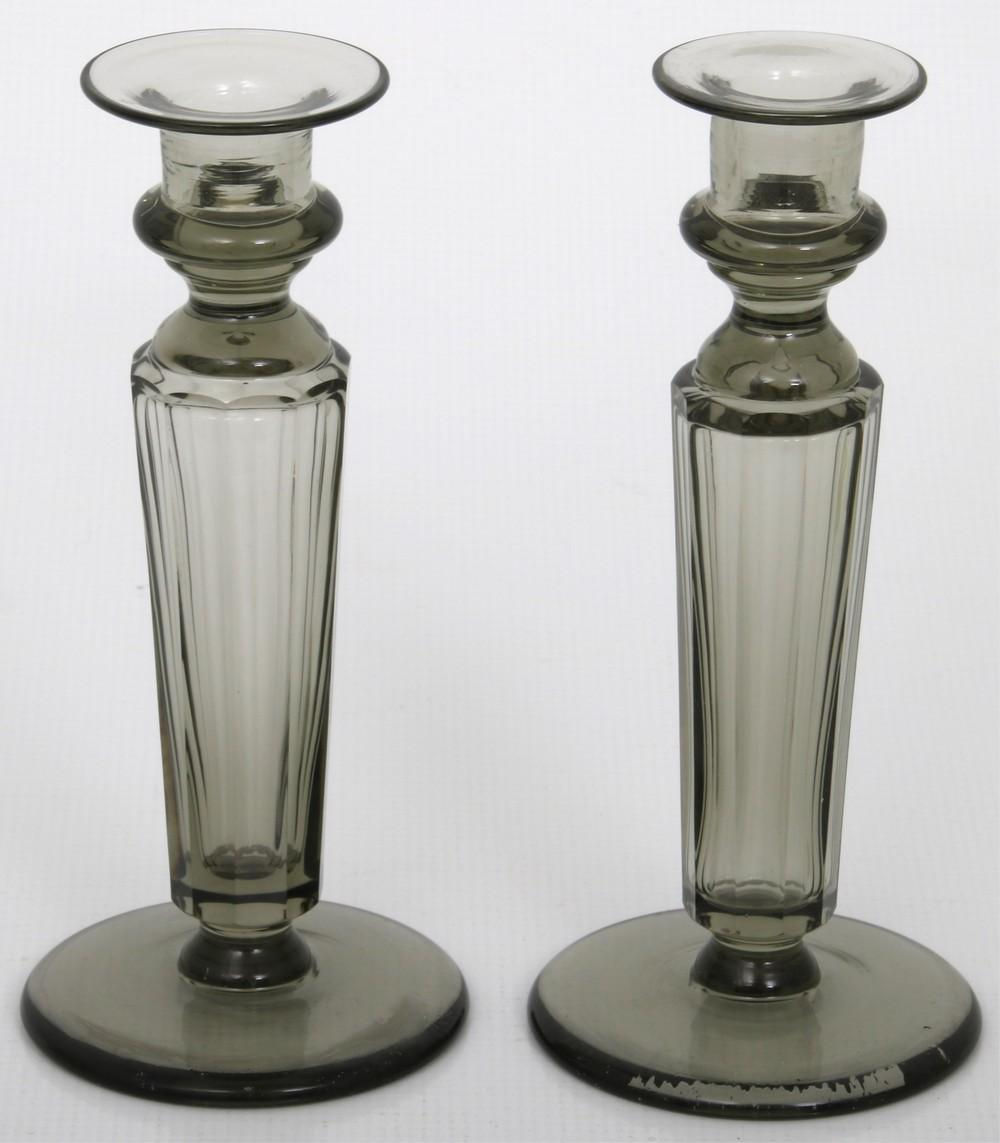 Four Pairs of Steuben Candlesticks