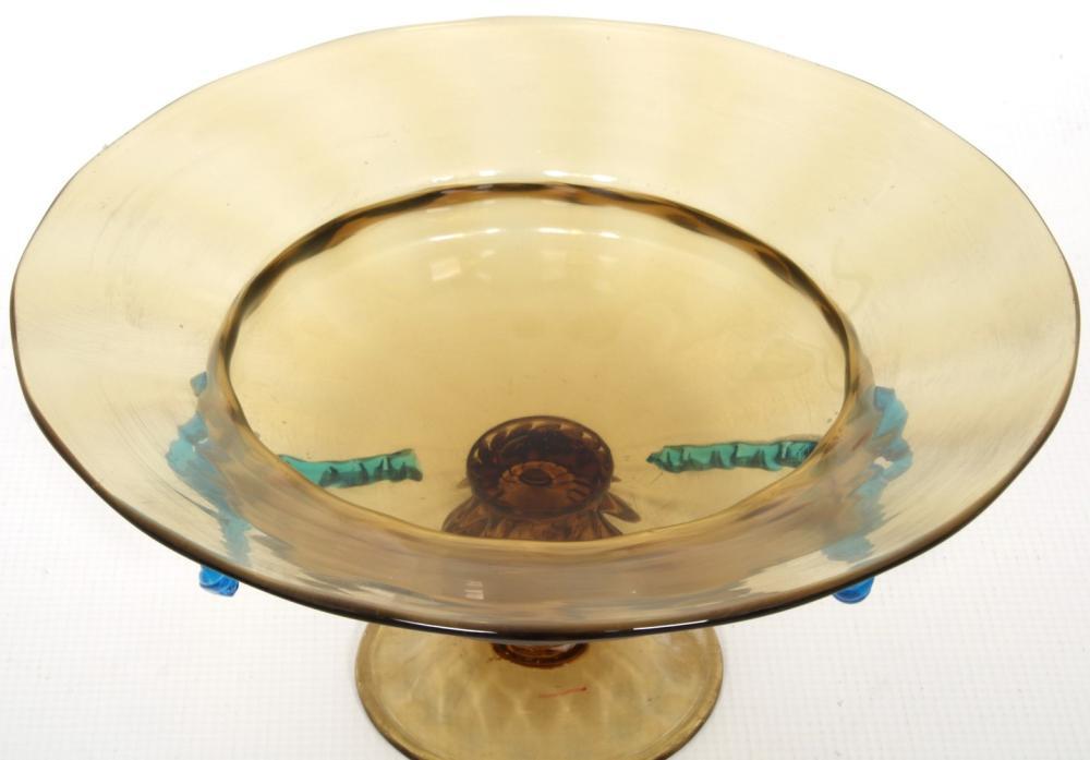 Steuben Two-Color Glass Compote