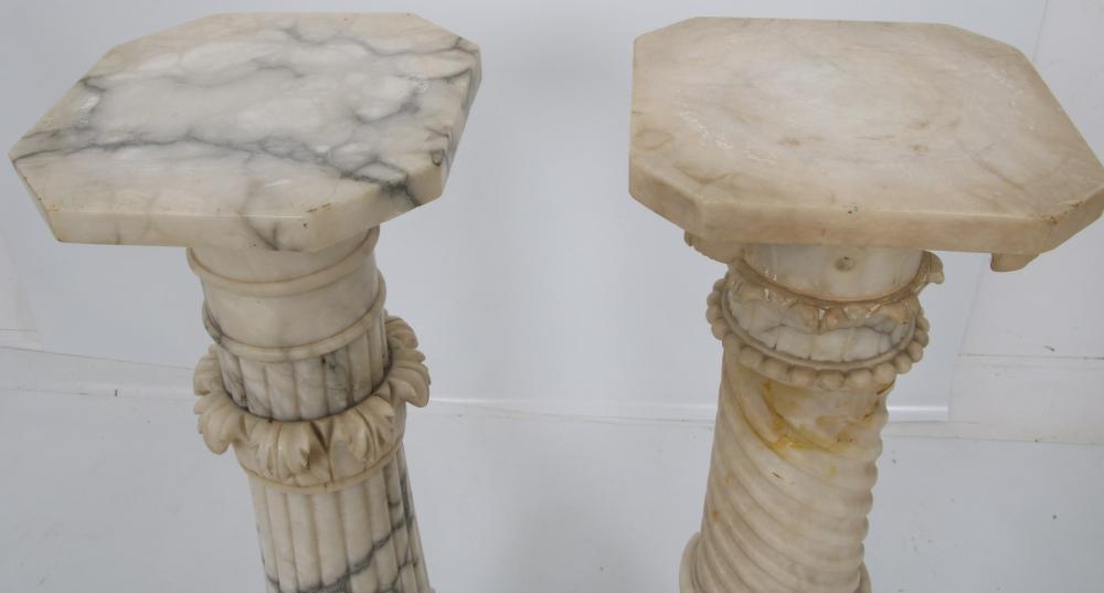 Two Alabaster Pedestals