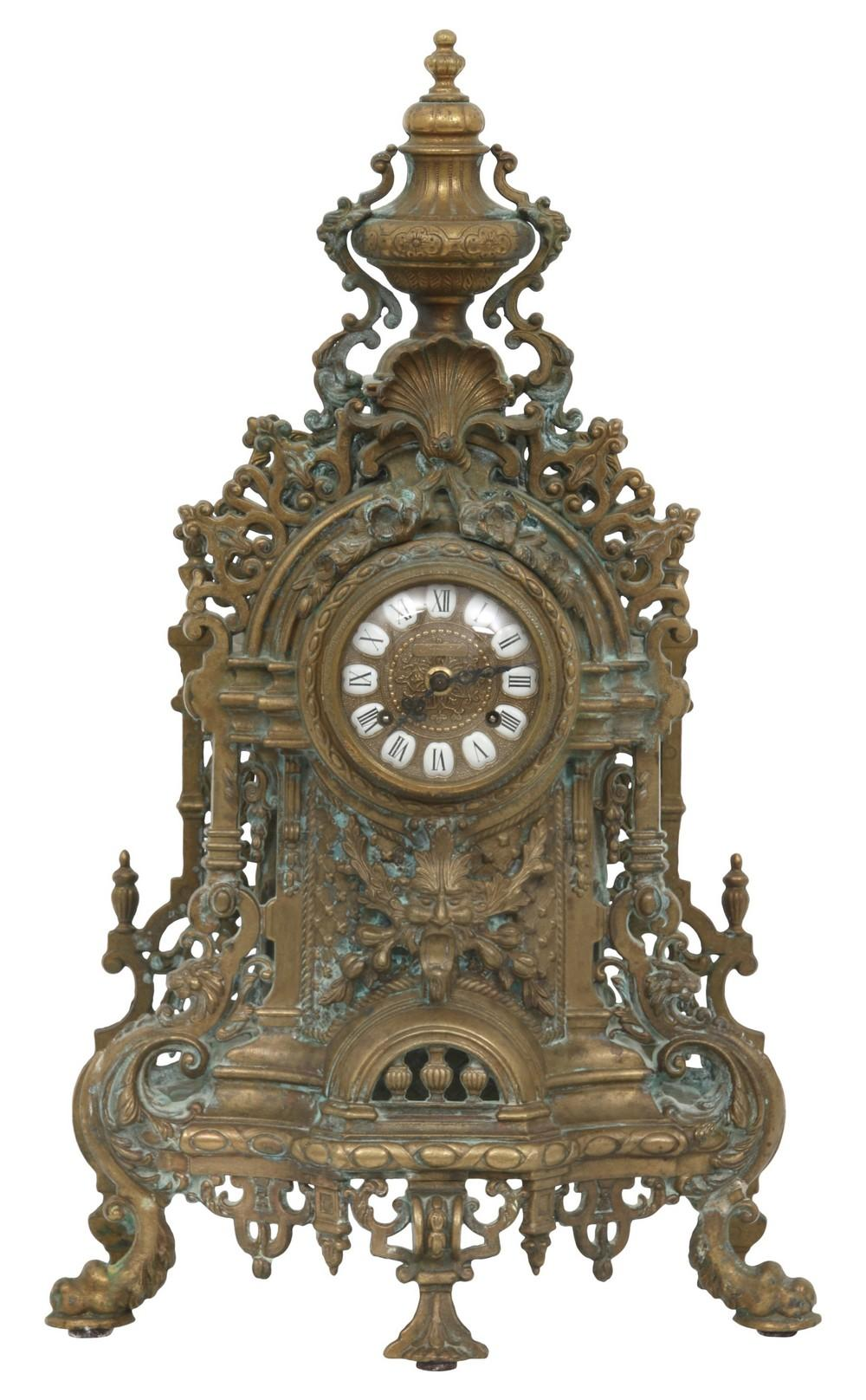 Ornate Brass Clock