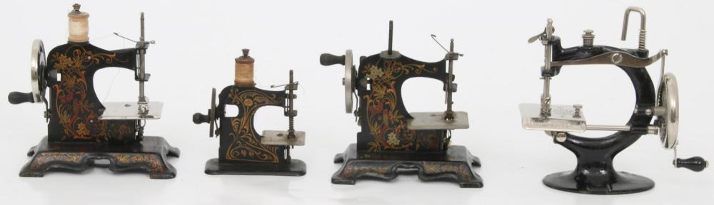 Group of 11 Miniature Sewing Machines