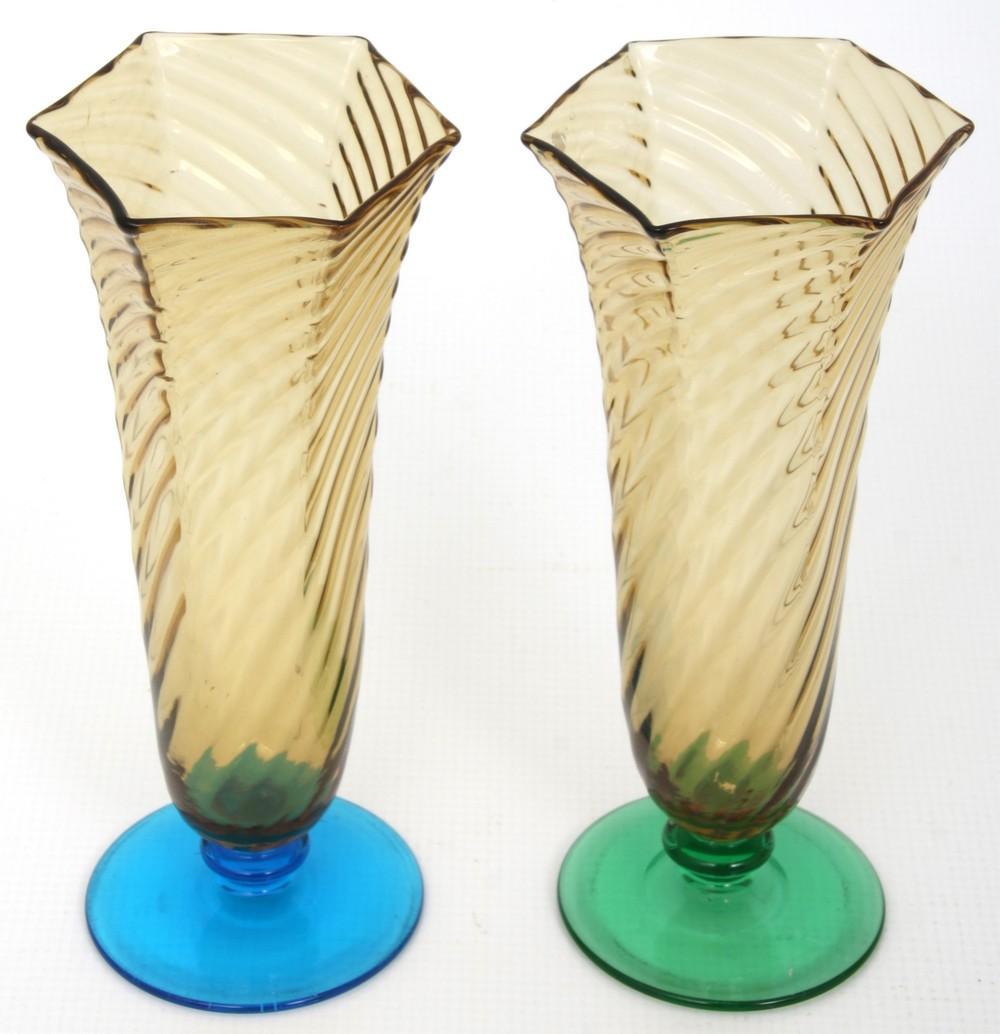 Group of Four Steuben Vases