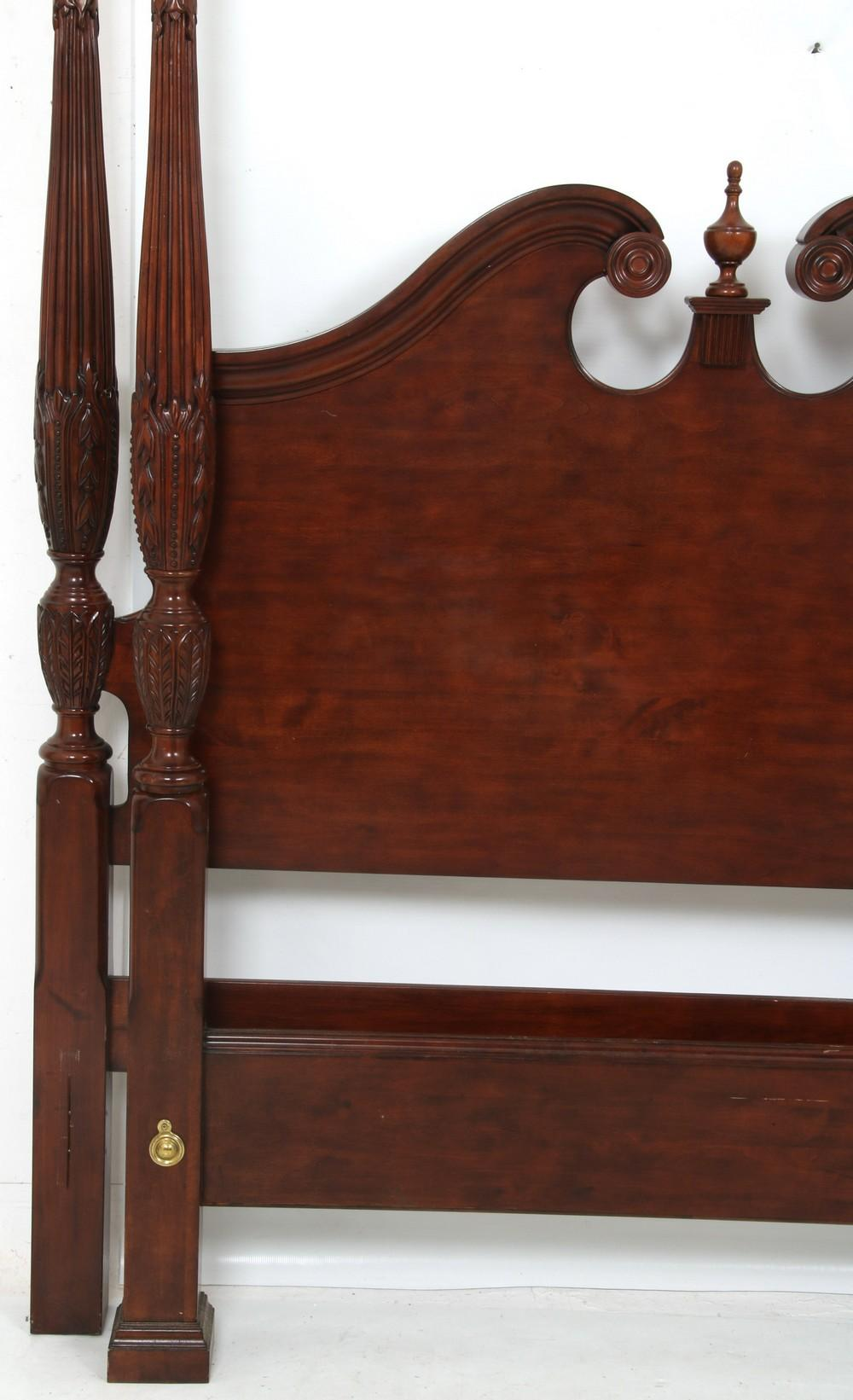 Chippendale Style Queen Size Four Poster Bed