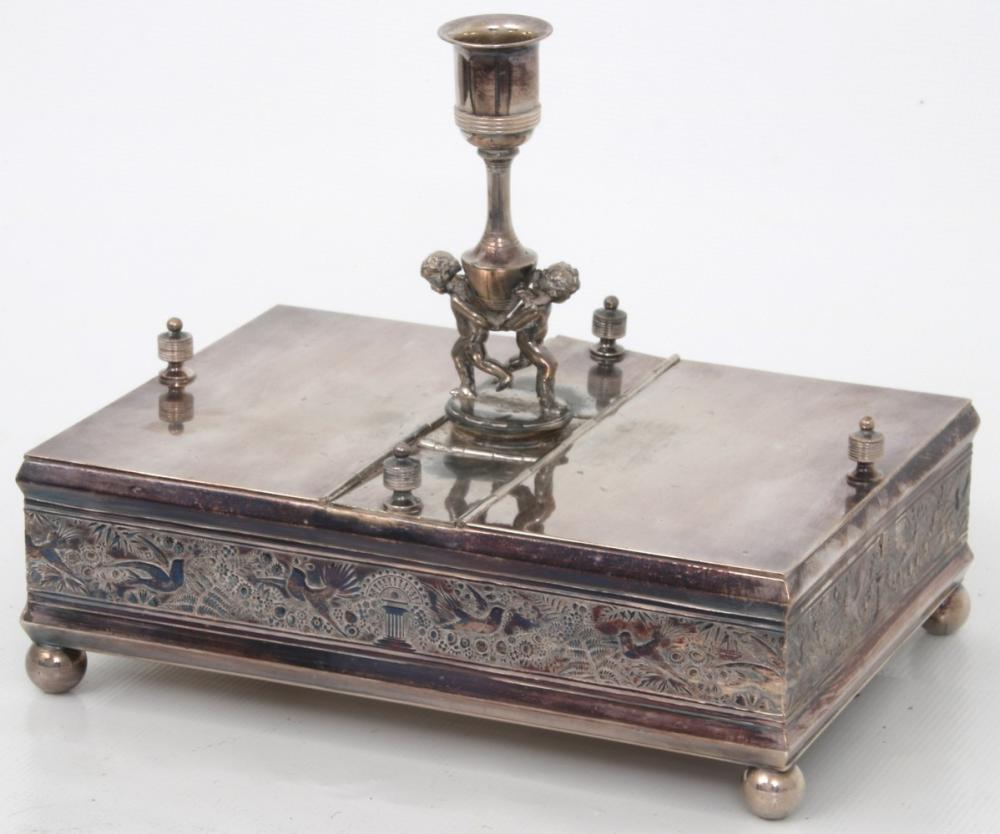 Silver Plated Figural Humidor