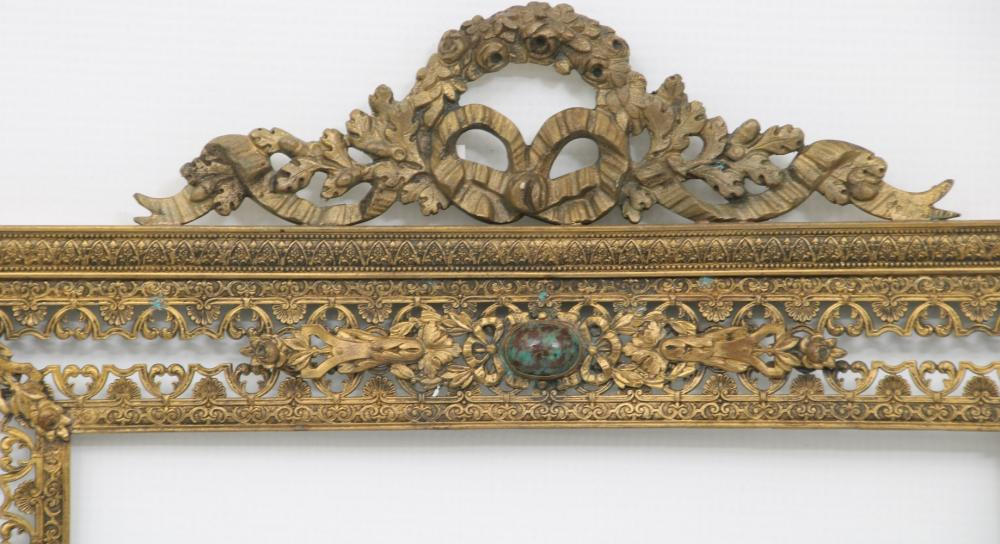 Gilt Bronze Frame with Inset Jewels
