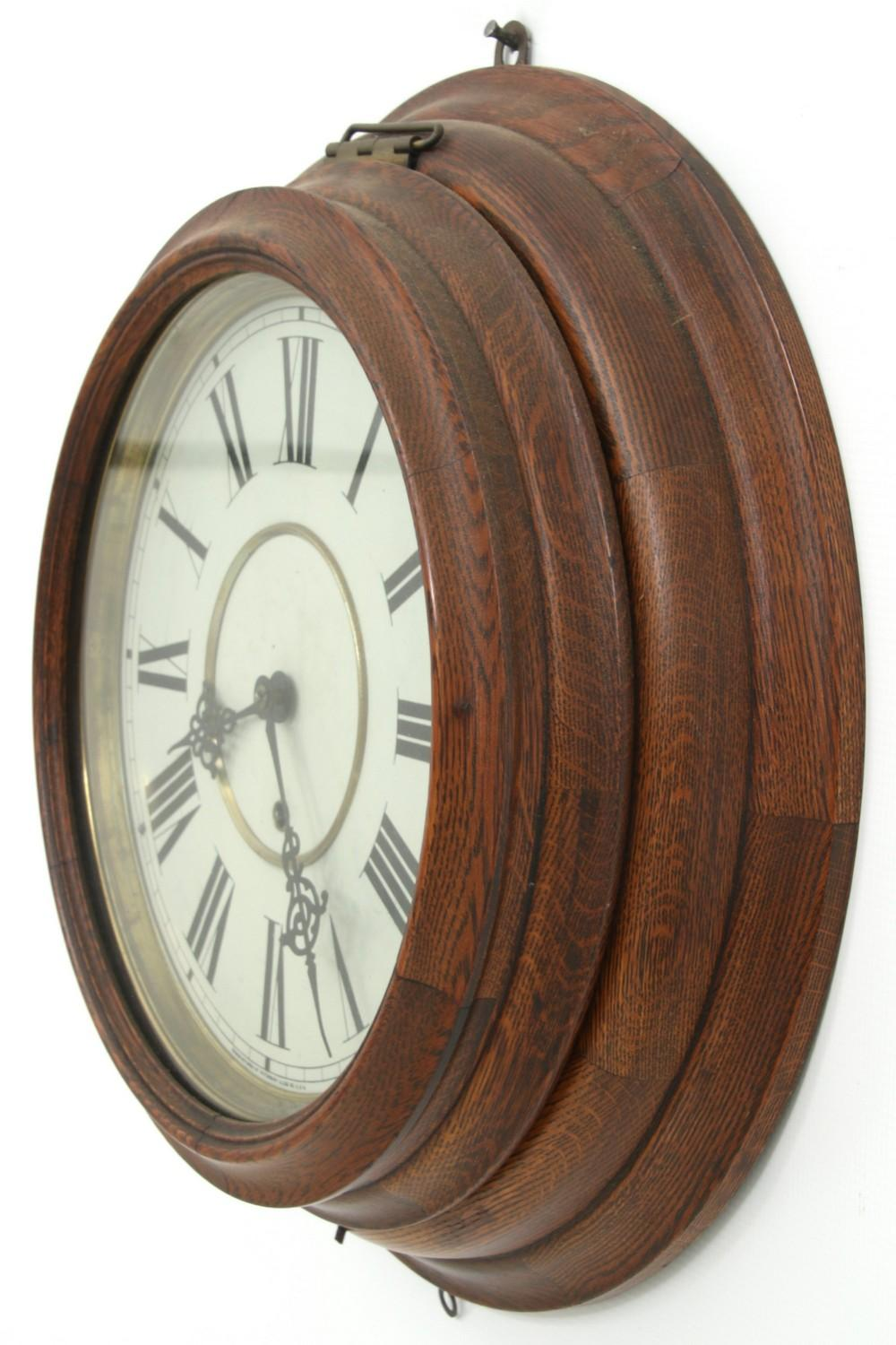 Waterbury Oak Gallery Clock