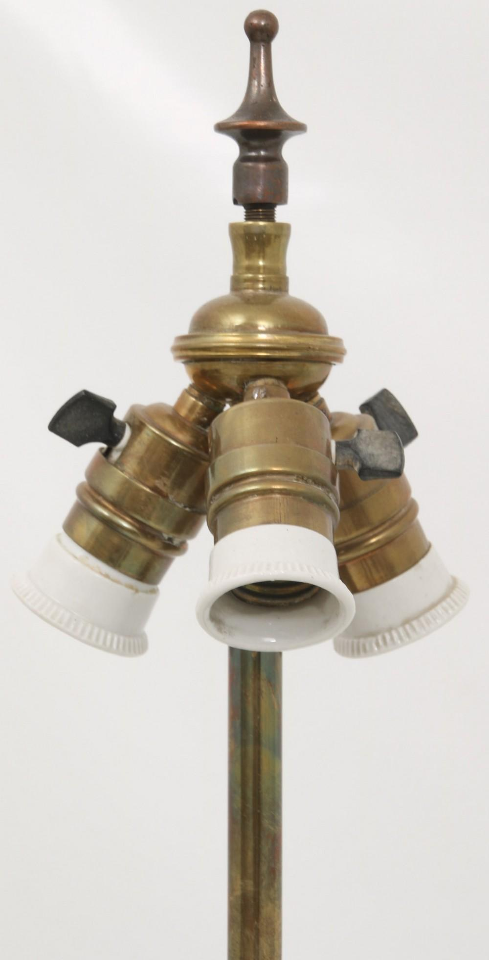 Empire Style Brass Floor Lamp