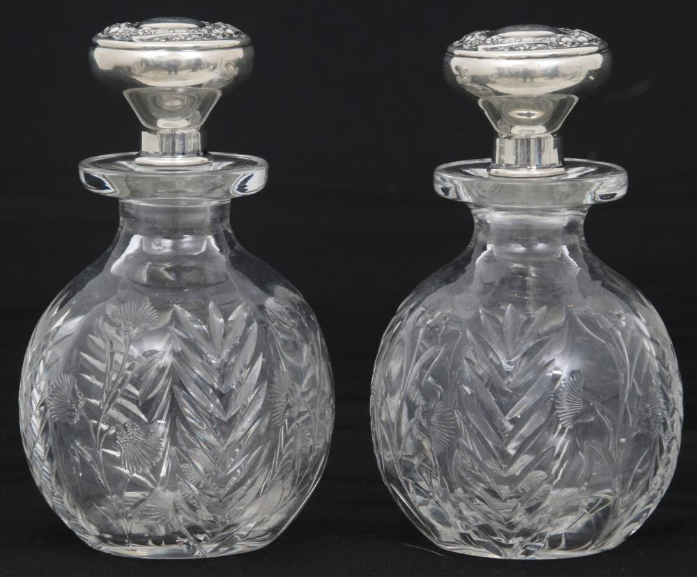 Pair of Tiffany & Co. Cologne Bottles