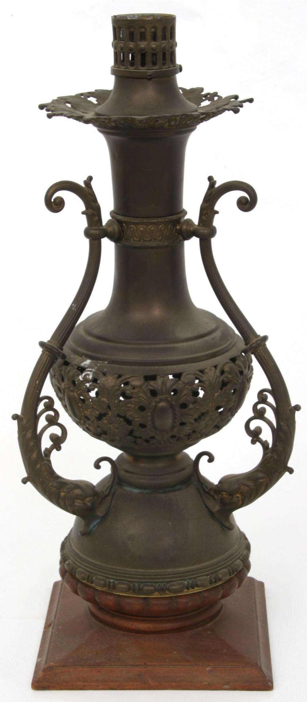 Victorian Brass Newell Lamp