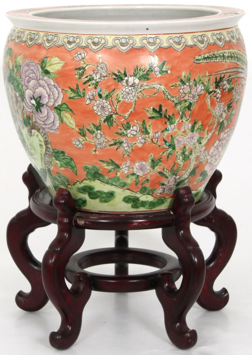 Asian Fish Bowl on Stand