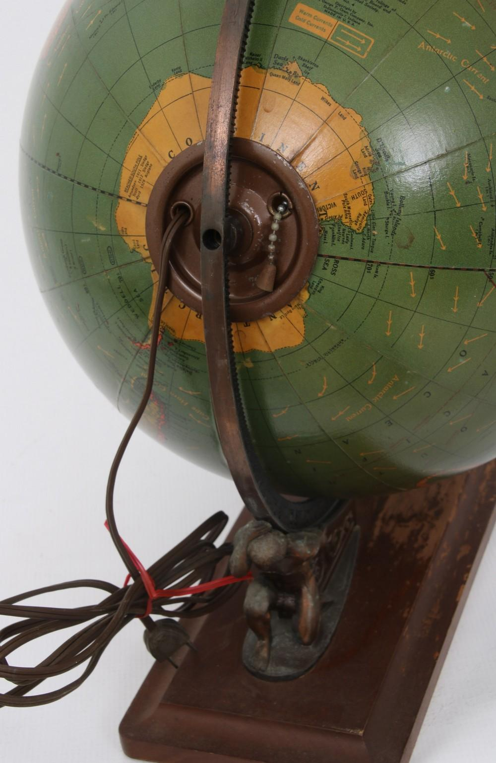 Cram's Unrivaled Terrestrial Light Up Globe