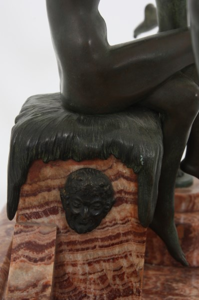 Attr. Marcel Bouraine Deco Bronze Centerpiece