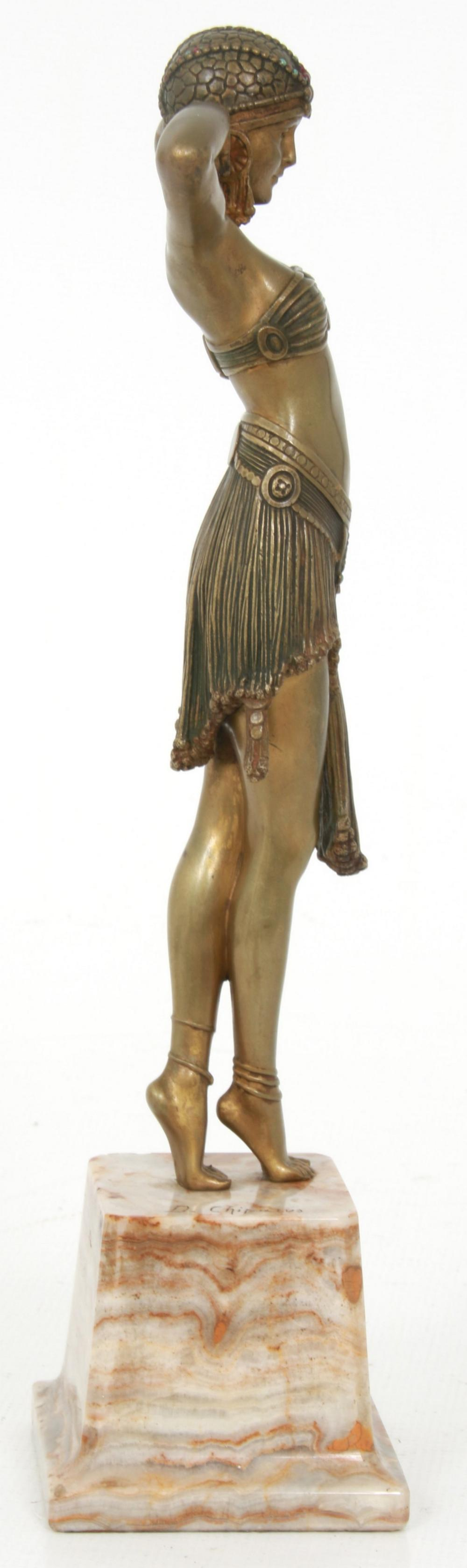 "Dimitri Chiparus Bronze ""Scarab Dancer"""