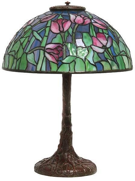 14 in. Tiffany Studios Tulip Table Lamp